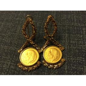Aretes Oro Con Monedas 2 Pesos Y Medio 12.6 Gramos