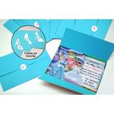 Convite Cinderela Com Foto +envelope +adesivo +tag