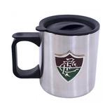 Caneca De Inox Com Tampa 370ml Fluminense