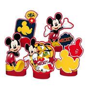 Decoração De Mesa Mickey 5 Unidades