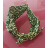 Tiara Personalizada Tecido Com Laço Verde Estampada Florido