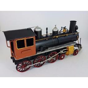 Locomotora Decorativa Metal Miniatura Escala