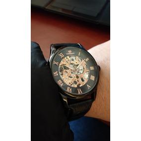 Reloj Mecánico Skeleton Forsining, Esqueleto Negro X