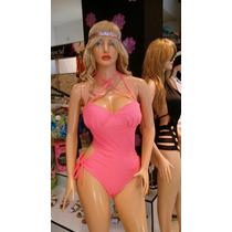Traje De Baño Trikini Fashion Sol Copas Prehormadas Unicolor