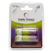 2 Pilas Aa Recargable Safety Energy 1.2v Baja Autodescarga