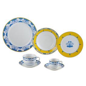 Jogo Jantar De Porcelana 42 Peças Amalfi