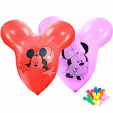 Pack 5 Globos Mickey O Minnie Disney Helio O Aire Cumpleaños