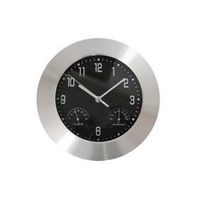 Reloj De Pared Elegante Con Medidor De Temperatura, Humedad