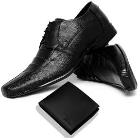 Sapato Social Bom E Barato Masculino Couro + Carteira