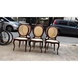 Cadeiras Antiga De Palha Madeira Maciça Totalmente Reformad