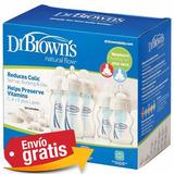 Biberones Dr. Browns Cuello Ancho 1 Kit Set Recien Nacidos**
