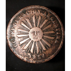 Lote De 4 Monedas De La Confederacion Argentina 1854