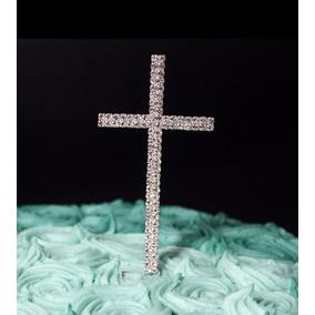 Cruz, Primera Comunion/bautizo Adorno Pastel Cake Topper