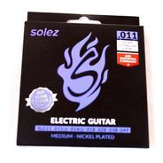 Encordoamento Guitarra 011 Solez Dlp 2 Cordas Extras
