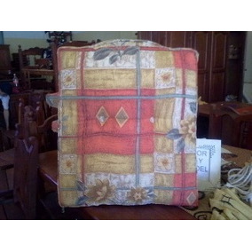 almohadn a medida para sillones tela estampada y colorida