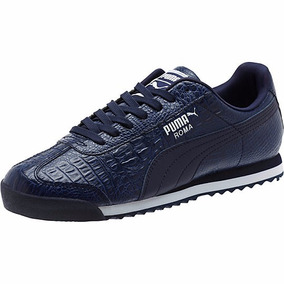 Tenis Puma Roma Clásico Azul Texture Piel Nuevo Modelo 2016