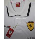 Camisa Ferrari Gola Polo Masculina.(promoção)