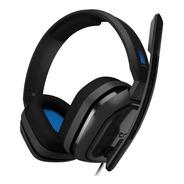 Headset Gamer Astro A10 Ps4 Pc Cinza E Azul P2 Pt