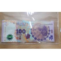 100 Pesos Evita Reposicion Firmas Fabrega Boudou Mb+