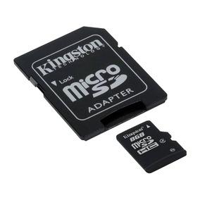 Tarjeta De Memoria Kingston Micro Sd 8gb Mas Adaptador
