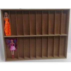 Estante Bonecas Barbie 20 Nichos Pegue Pinte Marujo Estantes