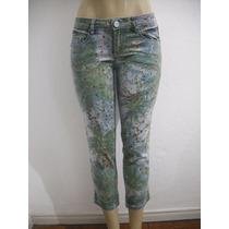 Calça Jeans Cantão Tam 38 Azul E Verde Ótimo Estado