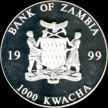 Spg - Zambia 1000 Kwacha 1999 ( Billete 50 Euros Coloreado )