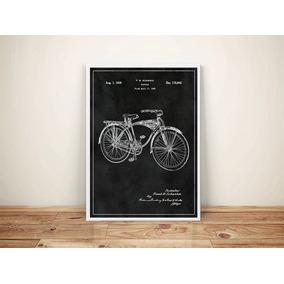 Quadro Poster Bicicleta Antiga