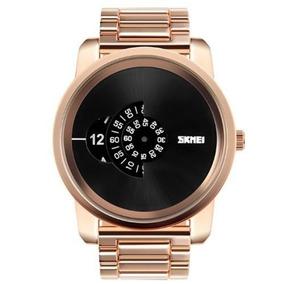 Relógio Masculino Skmei 1171 Analógico Dourado Com Nf