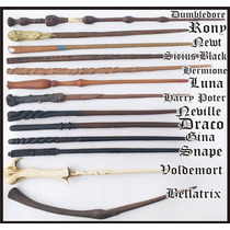 Kit Com 3 Varinhas Harry Potter - Resina - Frete Grátis