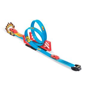 Pista Duplo Looping Tipo Hotwheels + Carrinho De Fricção