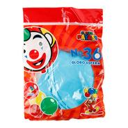 Bolsa Con 3 Globos Tamaño 36 (90 Cms) Color Azul Cielo