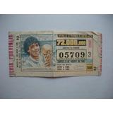 Billete Loteria De La Provincia - Maradona Y La Copa - 1986
