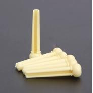 Kit Pinos Ponte Cavalete De Plástico Para Violão Cor Amarelo