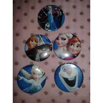 50 Botons Personalizados Infantis Frozen 3,8cm