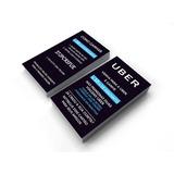Cartão De Visita - Motorista Uber 03 - Fosco + Verniz Loc