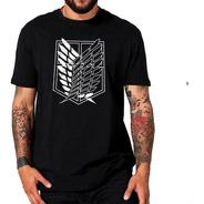 Camiseta Camisa Attack On Titan Asas Da Liberdade Anime