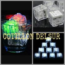 Hielos Led Cubitos Cotillon Fiesta Luminosa X 12 !