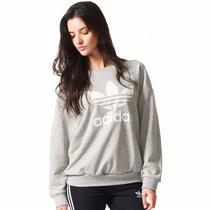 Sudadera Originals Trifolio Para Mujer Adidas Aj8401