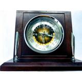 Reloj Antiguo Bulova Escritorio Hora Mundial Con Porta Lapiz