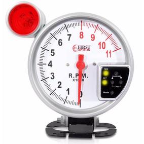 Velocimetro Conta Giro Rpm Universal Led 7 Cores Branco