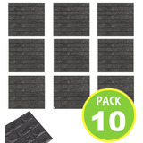 Pack 10 Panel Ladrillo Pared 3d Gris 71452/ Fernapet