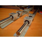Guia Lineal 16mm,sbr16,l=1500mm, Con Sus 2 Chumaceras, Cnc