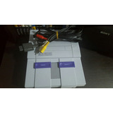 Consola Super Nintendo Y Cable De Video Originales Snes
