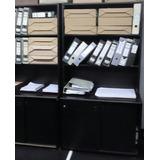 Biblioteca Melamina 2 Estantes Fijos + Archivo Pta.corrediza