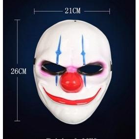 Mascara De Palhaco Halloween Para Festa Payday Video Game