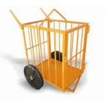 Carrinho Para Transporte Tipo Gaiola Maqtron Capacidade De 2