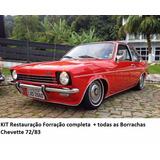 Kit Restauração Chevette 73/82 Borrachas +forro Porta + Teto