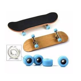 Fingerboard Profissional De Madeira Com Rolamento Skate Dedo