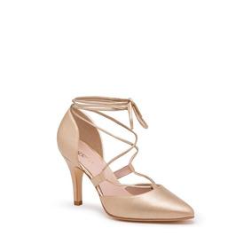 Zapatilla Andrea Ankle Strap Mujer Oro 2415185 Andrea